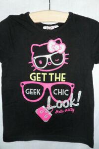 HELLO KITTY t;shirt noir 8 ans