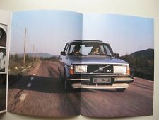 Volvo 244 GLT 244GLT folder brochure Prospekt Dutch text 6 pages 1980