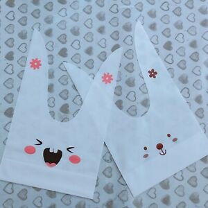 20 Easter Rabbit Treat Bags Biscuit Cookie Party Bag Gift Bag Kids Birthday Bag