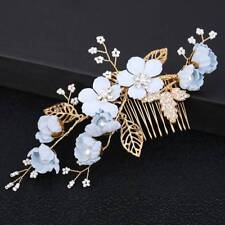 Crystal Wedding Bride Bridal Floral Hair Comb Head Pieces Hair Clip Pins Jewelry