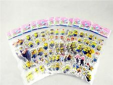 Kids Favorite  Minions stereoscopic Crafts Stickers Lot Of 12 & gift