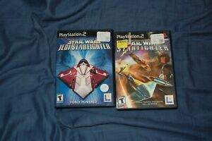 Star Wars StarFighter Bundle - Lot of 2 PlayStation 2 Games
