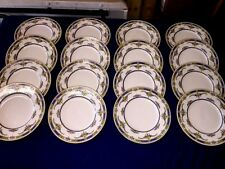 """16 Vtg Minton China """"Princess"""" 8 3/4"""" Luncheon Plates ~Yellow Flower~ Excellent"""