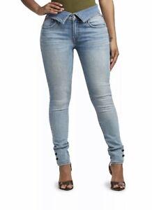 True Religion Blue Jennie Curvy Skinny Jeans W27 Booty Lift