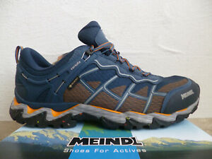 Meindl Trainers Hiking Shoes Low Shoes Tex Blue New