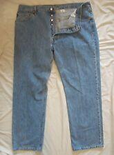 LEVI'S 501 Button Fly Light Wash Denim Jeans 100% Cotton Men's 42 X 32**Mexico