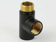 Heating Element Connector-Dual Fuel Black T Piece Radiator Towel Rail Radiator