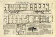 1884 TERZA CLASSE CARROZZE St Gothard RAILWAY TELEFONO MECCANICA AG Miller