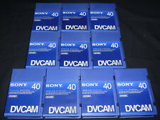 TEN x Sony Professional PDVM-40N DVCAM Tapes 40 minutes. Used once only.