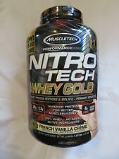 Muscletech Nitro Tech 100% Whey Gold 5.53 lbs 77 Servings French Vanilla @5