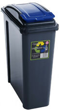 VFM Recycling Bin With Lid 25 Litre Blue Sby28521