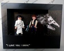 Playmobil CUSTOM STAR WARS PRINCESA LEIA Y HAN SOLO vaqueros medieval piratas