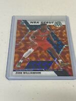 ZION WILLIAMSON 2019-20 PANINI MOSAIC ORANGE DEBUT Prizm ROOKIE