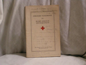 1942 HANDBOOK FROM THE RED CROSS OF HOME SERVICE INFORMATION