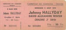 RARE / TICKET BILLET DE CONCERT - JOHNNY HALLYDAY LIVE A ORANGE ( FRANCE ) 1970