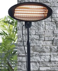 Patio Heater 2M Height 1500W IP34 Garden Free Standing - Adjustable Height