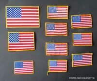 American Flag Embroidered Sew On Patch LOT 10