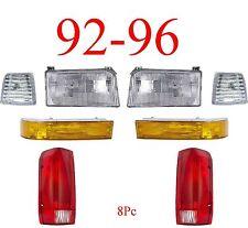 92 96 Ford 8Pc Head & Tail Light Kit, F150, F250, Bronco, 97 & 98 F350, Truck