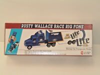 "Rusty Wallace Miller Lite Race Rig Fone    ""NEW IN BOX"""