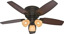 "HUNTER 46"" Hatherton Low Profile Ceiling Fan with Light New Bronze 52086"