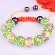 Newest Design Bracelet Green Disco Balls hand-woven Bangle Adjustable hand chain