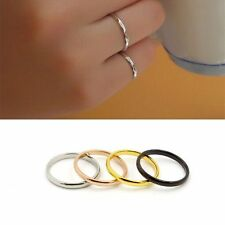 14K Gold Filled Stainless Steel Jewelry Simple Woman's Rings Gift 4 colors