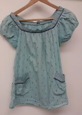 Blue Top With Pockets Size S <J2771
