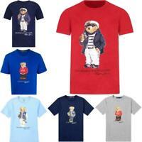 Polo Ralph Lauren Mens Classic-Fit Bear Crew Neck Tee T-Shirt Multiple Colors