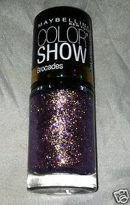 Maybelline Color Show Nail Polish Brocades * 750 LAVISHLY LILAC * Gold Shimmer