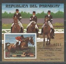 Paraguay Olympische Spiele Olympic Games 1976 MUESTRA Montreal Equestrian BLOCK