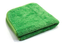 "Microfiber 600 GSM Ultra Plush 16"" x 16"" Towel Cloth Green / Green T605G"