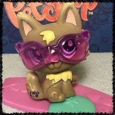 Littlest Pet Shop LPS  #1411 Gray Wolf Puppy Dog w/ Accessories BLEMISHED