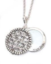 John 3:16 Christian Verse Magnifying Glass Necklace Inspirational Fast Ship USA