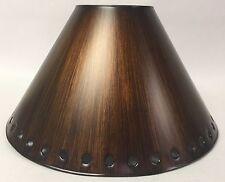 Lamp Shade, Rustic Tin, Solid Design, Patina Finish, Empire, Many Sizes