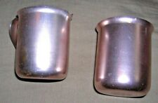 Vintage Color Craft Milk Creamer & Sugar bowl set Copper Color Aluminum Rare