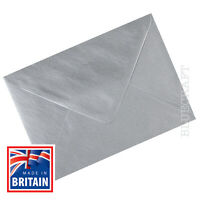 100 x A6 C6 Silver Metallic 100gsm  Envelopes 114 x 162mm - 4.48 x 6.38 inches
