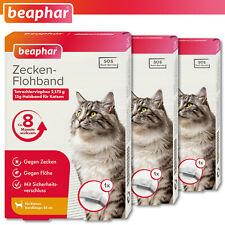 Beaphar 3 x Tick & Flea Collar for Cats White 35 cm 8 Months Effective Sos