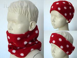 Infant RED FLEECE scarf NECK WARMER toddler baby girl boy snood nursery school