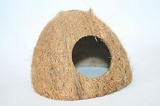 Pollywog cabane de noix de coco, trou rond ~ den masquer grotte coco moitié ~ Grenouille Gecko dartfrog
