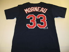 Justin Morneau Minnesota Twins #33 Blue Baseball Jersey T-Shirt New Boys Large 7