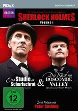 Sherlock Holmes, Vol. 1 * DVD 2 Folgen der Krimiserie mit Peter Cushing Pidax