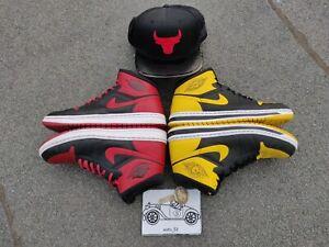 🔥Nike Air Jordan Alpha 1   Lot of 2 pairs  Bred  Chicago & Yellow Love 10.5sz🔥