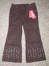"GYMBOREE ""Cupcake Cutie"" Brown Sparkle Corduroy Pants Size 4~NEW!"