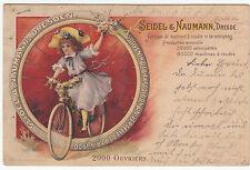 Reklame AK DRESDEN 1900 Seidel & Naumann - Kind auf Fahrrad     ( 2600