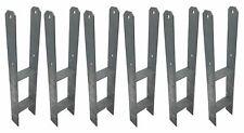 6 Pièce H-Armature Post-Responsables Galvanisé à Chaud 121/600 MM Supports en H