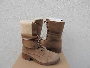 UGG GRADIN CHESTNUT SUEDE/ SHEEPWOOL LINED CONVERTIBLE BOOTS, US 6/ EUR 37 ~NIB
