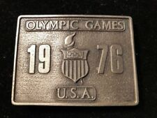 1976 OLYMPIC GAMES Belt Buckle U.S.A. BERGAMOT BRASS WORKS