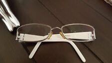 Brillen Gestell  schmal  ausgefallen stabil in Weiss /Metall