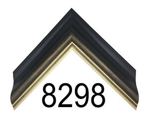 """Custom PIcture Frame   2"""" Black with Gold Trim   Great for Diplomas & Photos"""