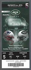 2011 NFL NEW ENGLAND PATRIOTS @ NEW YORK JETS FULL UNUSED FOOTBALL TICKET